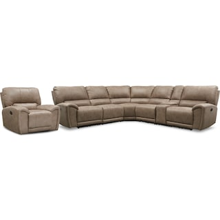 Gallant 6-Piece Manual Reclining Sectional with Recliner