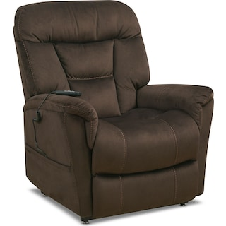 Lagos Power Lift Recliner - Dark Brown