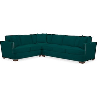 Arden Comfort 2-Piece Large Sectional with Right-Facing Sofa - Toscana Peacock