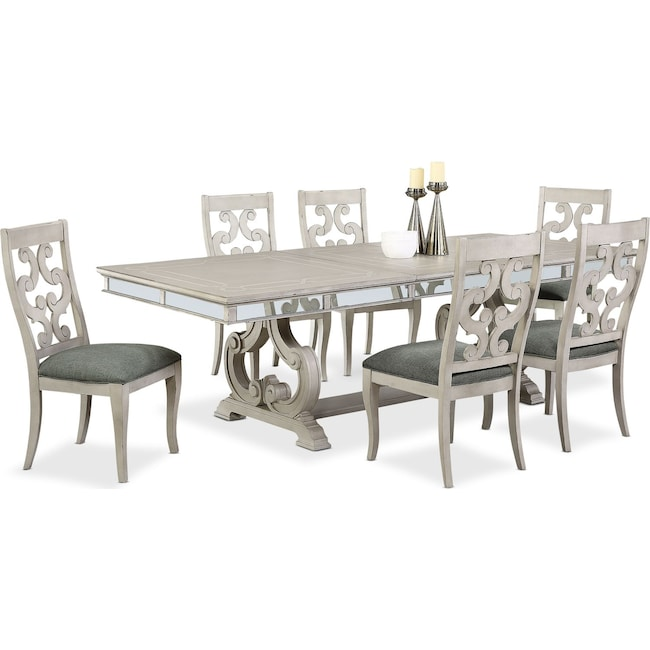 Dining Room Furniture - Athena Dining Table and 6 Dining Chairs