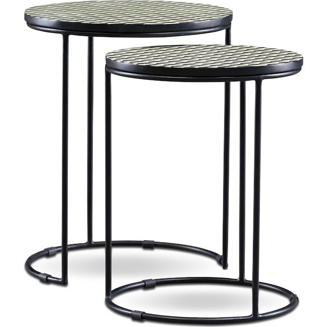 Accent and Occasional Furniture - Optic Nesting End Tables