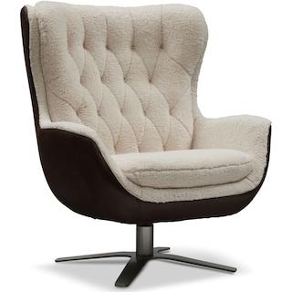 Simone Sherpa Swivel Chair