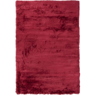 Faux Mink Fur Area Rug - Ruby