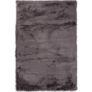 Faux Mink Fur 5' x 8' Area Rug - Charcoal
