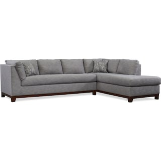 Anderson 2-Piece Sectional with Right-Facing Chaise - Gray