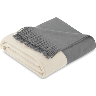 Finley Knit Throw - Gray