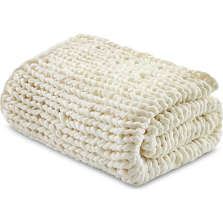 Nora Knit Throw - Ivory