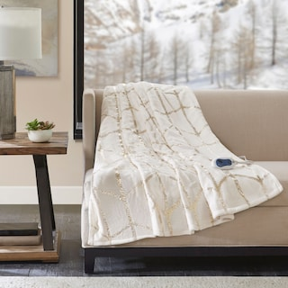 Cosette Heated Throw - Beige