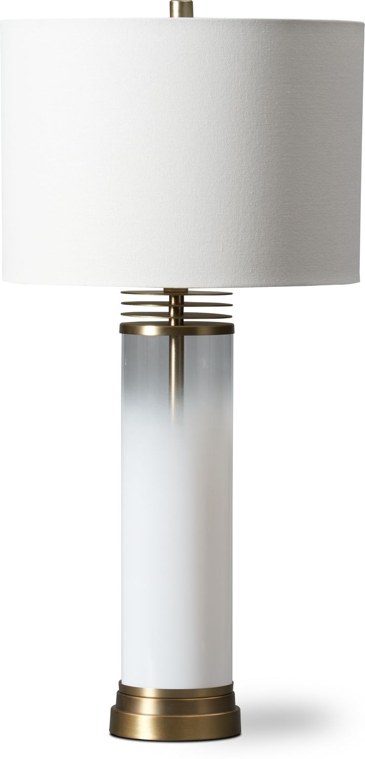 Home Accessories - Milk Glass Table Lamp