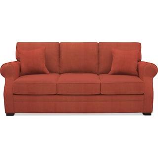 Tallulah Sofa - Modern Velvet Cayenne