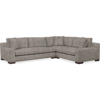 Ethan Cumulus Performance 2-Piece Large Sectional with Left-Facing Sofa - Halifax Dove