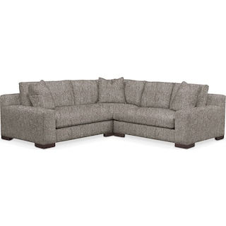 Ethan Comfort Performance 2-Piece Small Sectional with Right-Facing Loveseat - Halifax Dove