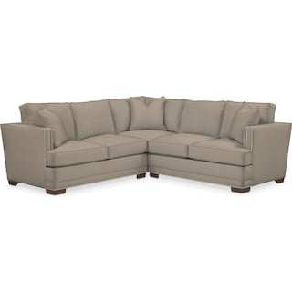 Arden Cumulus Performance 2-Piece Small Sectional with Right-Facing Loveseat  - Benavento Dove