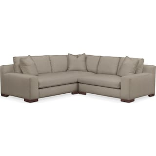 Ethan Cumulus Performance 2-Piece Small Sectional with Right-Facing Loveseat - Benavento Dove