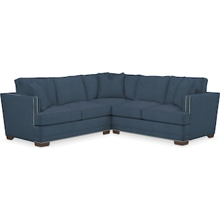 Arden Cumulus Performance 2-Piece Small Sectional with Right-Facing Loveseat - Peyton Navy
