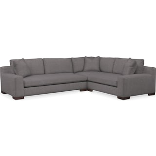 Ethan Cumulus Performance 2-Piece Large Sectional with Left-Facing Sofa - Benavento Stone