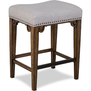 Charthouse Counter-Height Backless Stool - Nutmeg