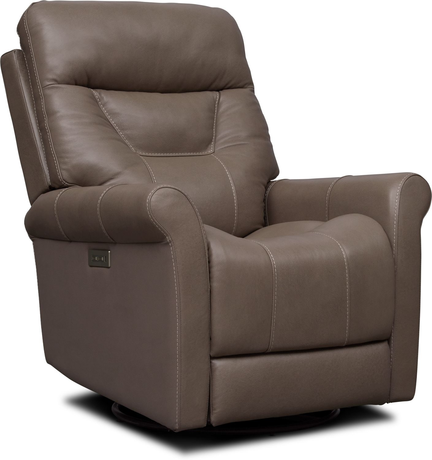 Living Room Furniture - Ace Dual-Power Swivel Recliner