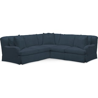 Campbell Cumulus Performance 2-Piece Small Sectional with Right-Facing Loveseat - Peyton Navy