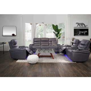 Jackson Triple-Power Reclining Sofa, Loveseat, and Recliner - Gray