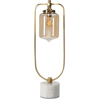 Brushed Brass Loop Table Lamp