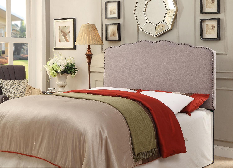 Bedroom Furniture - Aubrey Queen Upholstered Headboard