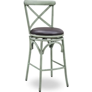 Alford Swivel Bar Stool - Antique Green