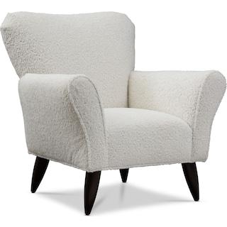Kady Accent Chair - Sheepskin White
