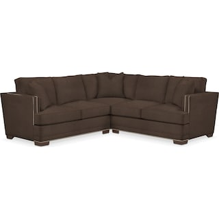 Arden Cumulus 2-Piece Small Sectional with Left-Facing Loveseat - Weddington Charcoal
