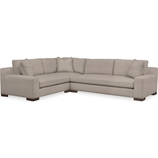 Ethan Cumulus 2-Piece Large Sectional with Right-Facing Sofa - Weddington Cement
