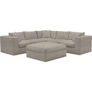 Collin 5-Piece Sectional with Ottoman