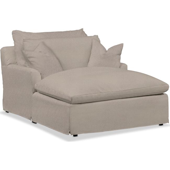 Living Room Furniture - Plush Chaise
