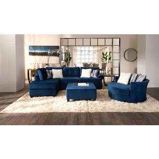 Cordelle 2-Piece Sectional with Accent Pillows + FREE OTTOMAN