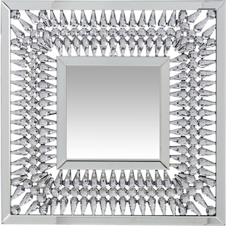 Square Crystal Spoke Wall Mirror