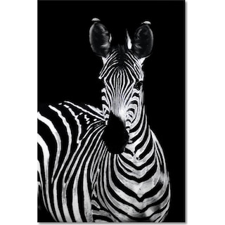 Zebra on Glass Wall Art