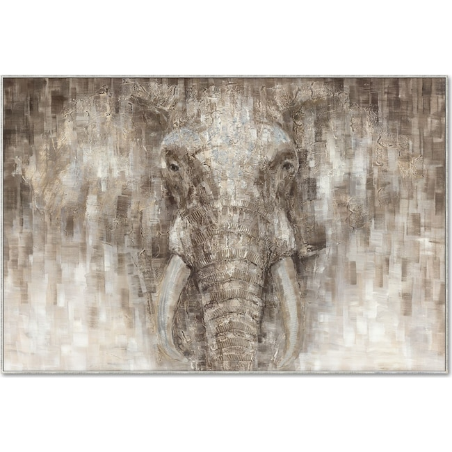 Home Accessories - Painted Elephant Wall Art