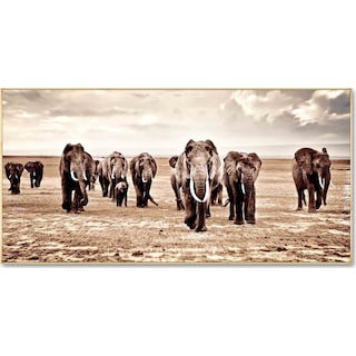 Elephant Herd Wall Art