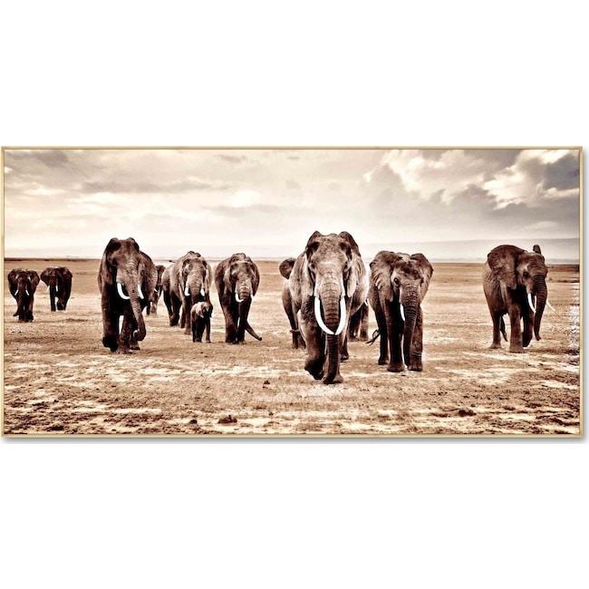 Home Accessories - Elephant Herd Wall Art