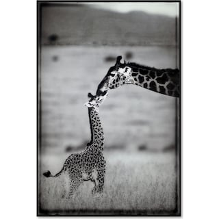 Giraffe Mother and Baby Wall Art