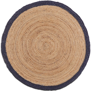 Afono Round Area Rug - Blue