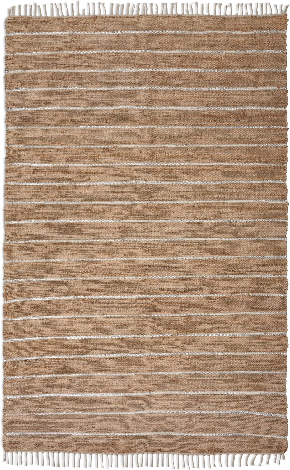 Rugs - Dylan Area Rug - Silver and Natural