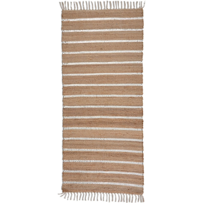 """Rugs - Dylan 30"""" x 6' Runner - Silver/Natural"""