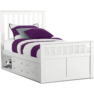 Flynn Twin Captain's Bed - White