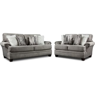 Cordelle Sofa and Loveseat - Gray