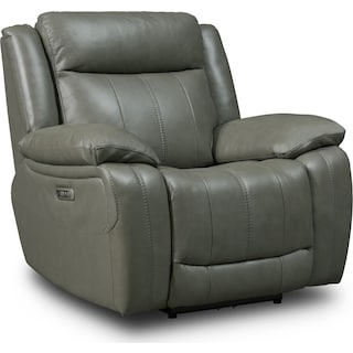 Vince Dual-Power Recliner - Gray