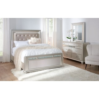 Sabrina 5-Piece Queen Bedroom Set with Dresser and Mirror