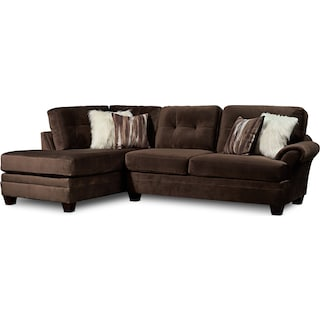 Cordelle 2-Piece Sectional with Left-Facing Chaise and Swivel Chair Set - Chocolate