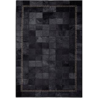 Rhys 5' x 8' Area Rug - Black
