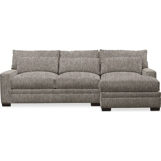 Winston Performance Comfort 2-Piece Sectional with Right-Facing Chaise - Halifax Dove