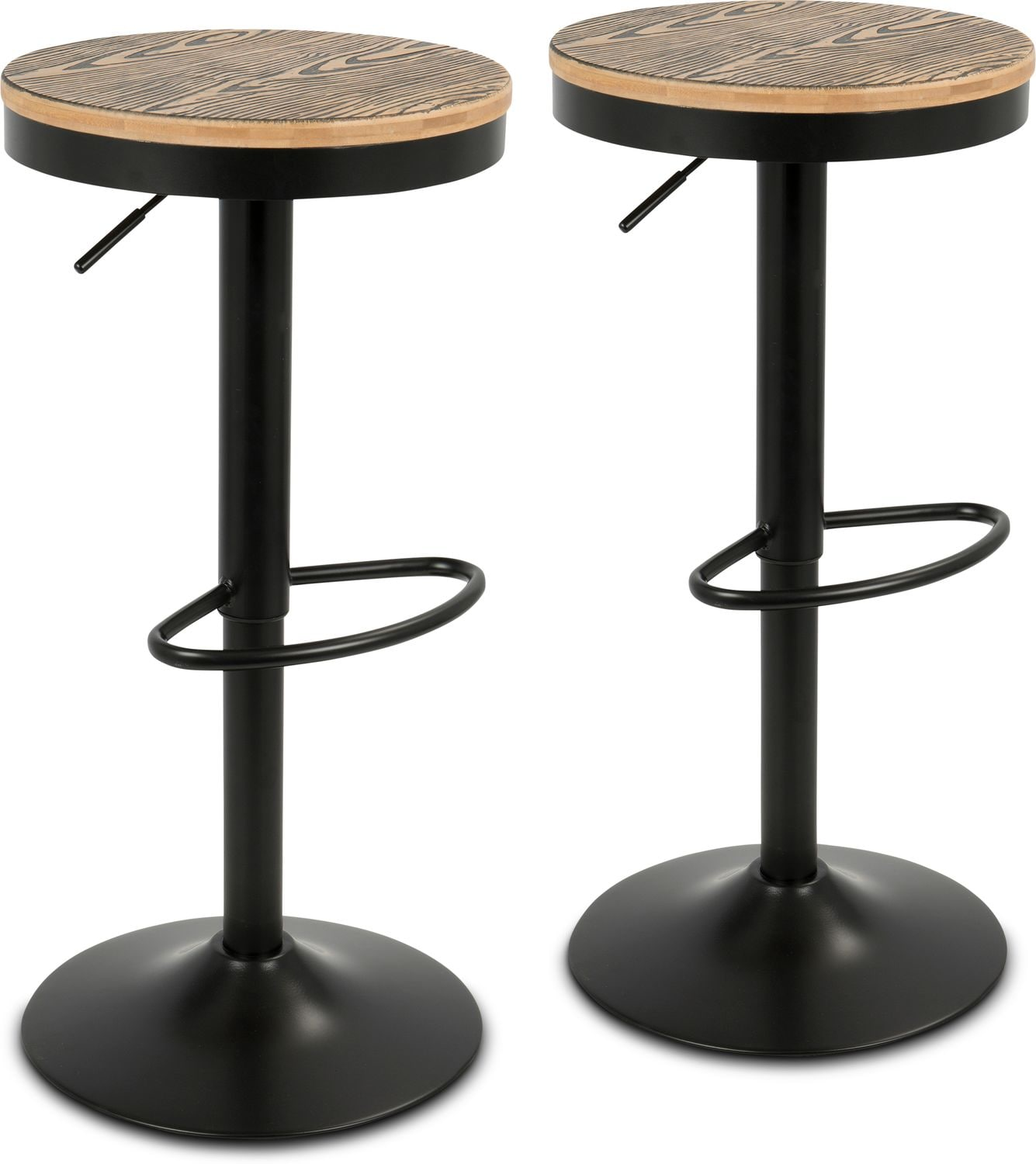 Dining Room Furniture - Noa Set of 2 Adjustable Swivel Bar Stools